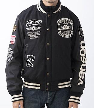 新品正規VANSONアワードジャケット黒LバイカーVS20113W