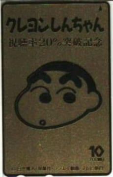 貴重!クレヨンしんちゃんゴールドテレカ視聴率20%突破記念!