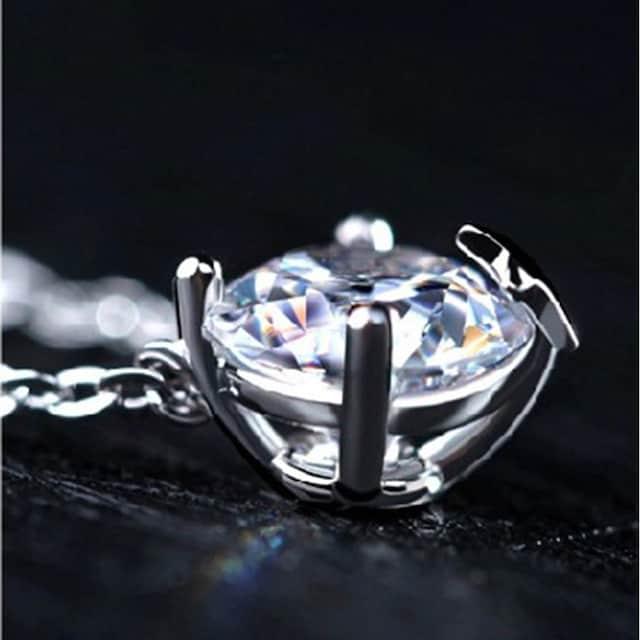 特A品 新品1円〜★送料無料★ダイヤモンド スター 星型 シルバーネックレス