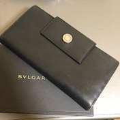 1スタ 超大人気☆ BVLGARI ブラックレザー長財布