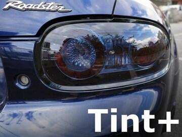 Tint+再使用できるロードスターNCECテールランプ前期スモークフィルム NC