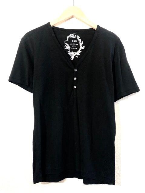 A.A.R■Tシャツ■無地■ヘンリー■ヨウジヤマモト■ダーバン■黒  < ブランドの