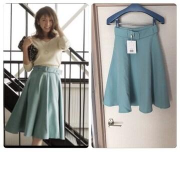新品タグ付き2017SSジャスグリッティー フレアカラースカート