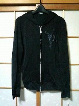 トルネードマート〓新品〓刺繍入りパーカー〓黒