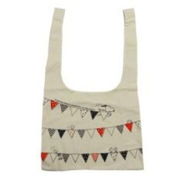 【スヌーピー】可愛い横マチ付き♪折りたたみショッピングエコバッグ