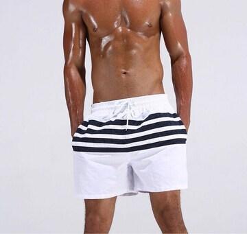 水着 サーフパンツ メンズ インポート 海パン ホワイト