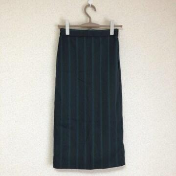 ジーユー新品 ミモレストライプタイトスカート♪
