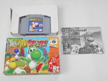 N64★YOSHI'S STORY 海外版(国内本体動作不可) 端子清掃済み