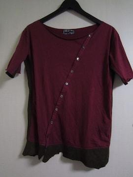 LOSTAGE レザー切り替えTシャツ