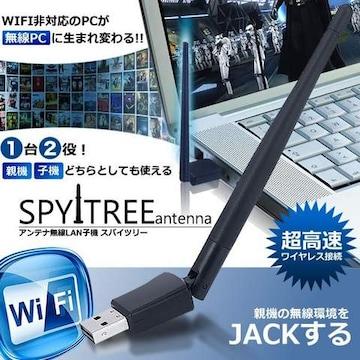 SPY アンテナ 高速 無線 LAN 親機 WiFi 子機 パソコン PC