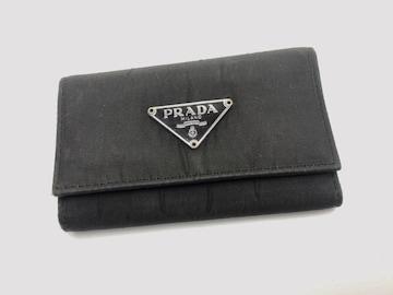D269 美品★ PRADA プラダ 6連キーケース ナイロンxレザー