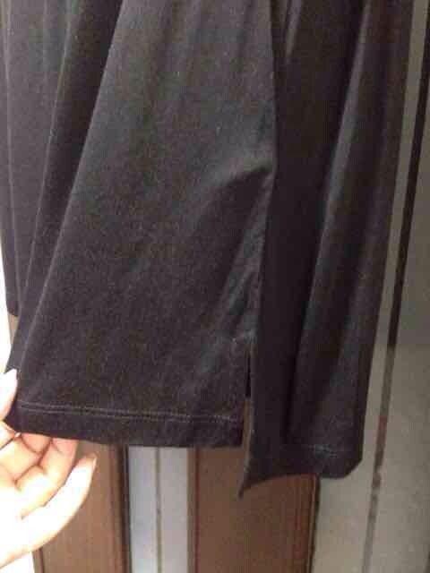 新品L★H&M★黒のシースルー/スパンコール付き/レーヨン < ブランドの