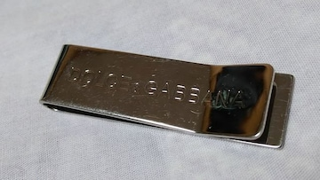 正規 ドルチェ&ガッバーナ D&Gマネークリップ メタリックシルバー 5.3×1.5 エンムレムロゴ