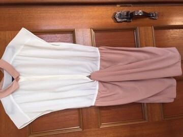 美品 ジャスグリッティー ワンピース 襟付きブラウス  ピンク
