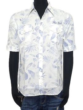 新品karlkaniカールカナイ裏プリントリゾート5分袖シャツ