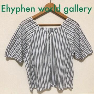 #ストライプブラウス シャツ Ehyphen world gallery