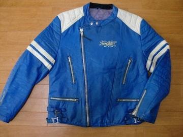 ユーロ 70年代 BELMO レザー ライダースジャケット XL