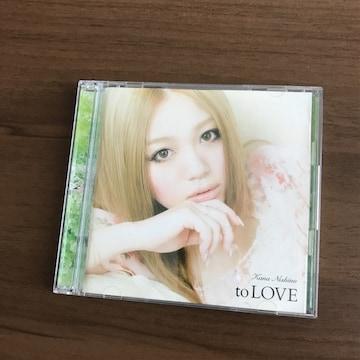 西野カナ初回限定CD+DVDアルバムbestベストto LOVE