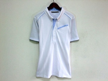 レイヤードデザインポロシャツMホワイト白新品※2点送料無料
