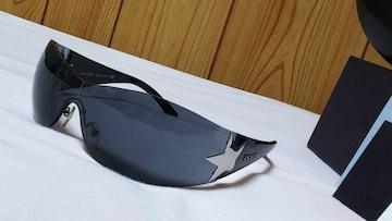 正規美 hyde着 同型 PRADAプラダ スター×ロゴ スポーティーサングラス黒 付属