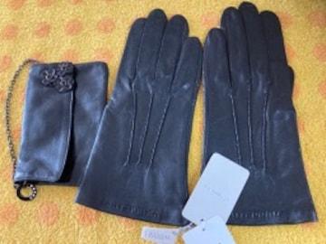 アンテプリマ 革革手袋+ポーチ