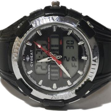 良品【980円〜】CYBEAT【デュアルタイム 2TIME】腕時計