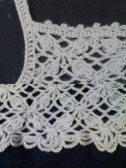 手編みモヘアのキャミソール グレー < 女性ファッションの
