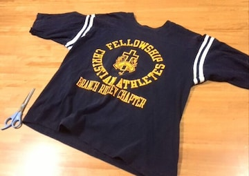 70s チャンピオン バータグ フットボールTシャツ ンテージ