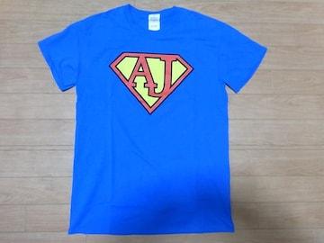 即決!USA古着●鮮やかロゴデザイン半袖TシャツS青★ビンテージ