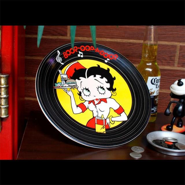 Betty Boop ベティちゃん陶器製プレート お皿食器デッドストック < インテリア/ライフの