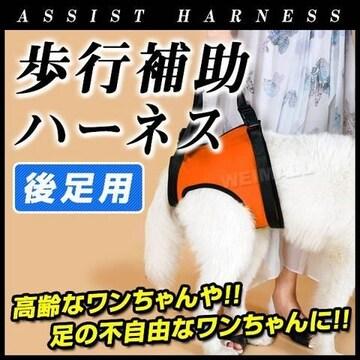 犬用 ハーネス歩行補助 中型犬 後ろ足用 持ち手長さ調節可能