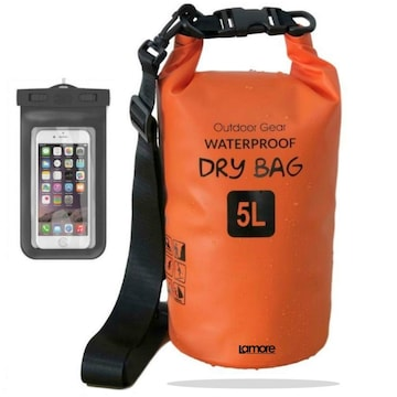 防水 ドライバッグ  寒い 冬 でも 柔らか素材 10L スマホ 用