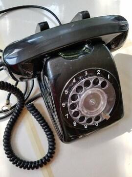 ☆昭和レトロ 黒電話 601-A2
