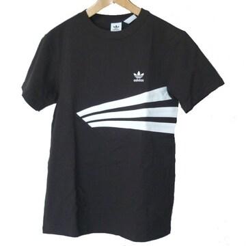 新品M★アディダスオリジナルス黒胸ロゴTシャツ