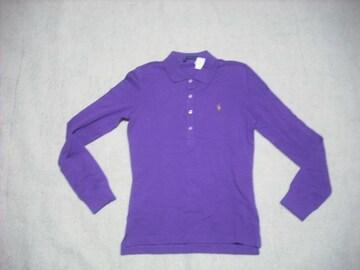 女 4 ラルフローレン 紫 ポロシャツ S