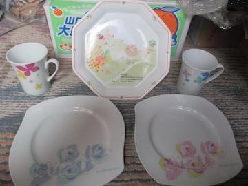 NARUMIナルミ Fine China 食器セット カップ×2&プレート×3