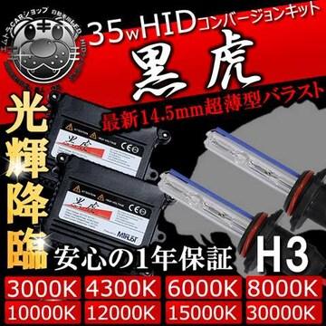 HIDキット 黒虎 H1 35W 15000K ヘッドライトやフォグランプに キセノン エムトラ