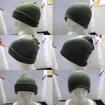 深緑 F)オニール★ニットワッチ ビーニー ニット帽 2WAY 646906