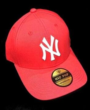 入荷新品ニューヨークヤンキース★NYアジャスターキャップ帽子レッド