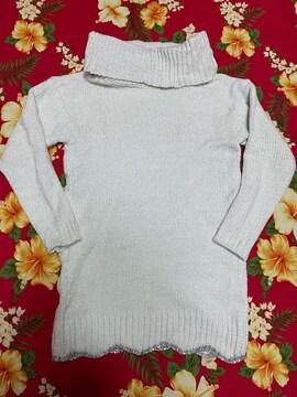新品未使用☆CECIL McBEE☆キラキラ☆ラメラメホワイトセーター