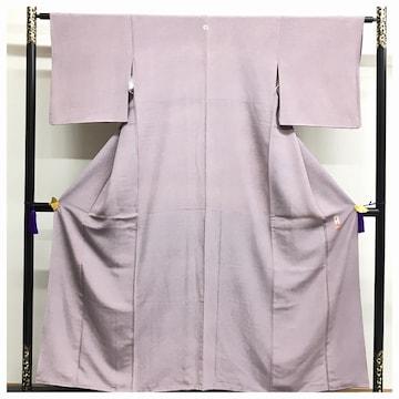 美品 高級呉服 身丈152 裄62 極鮫 小紋 江戸三役 上質 正絹 作家
