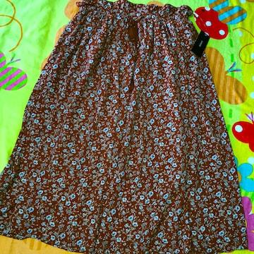 #新品#ふわふわ花柄ロングフレアスカート3L