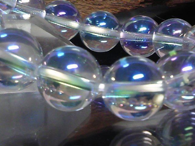 アクアオーラクリスタル12ミリ数珠 < 男性アクセサリー/時計の