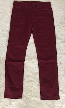 UNIQLO men'sパンツ えんじ色 XLサイズ