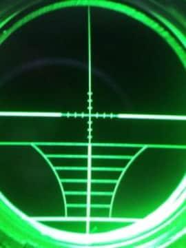 大口径超高倍率超望遠スコープ24倍×50FFフロントフォーカス付き
