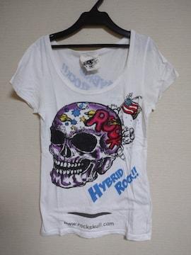 ☆used☆「GLADNEWS」スカルRock!! プリントTシャツ☆