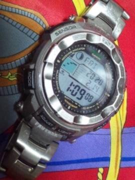 カシオプロトレックタフソーラー電波腕時計PRW-2500Tチタン定59400円