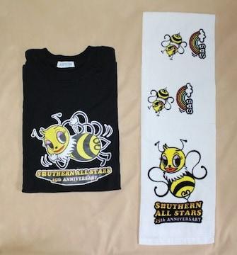 サザンオールスターズ★25周年アニバーサリー★Tシャツ(黒)&マフラータオル(白)セット