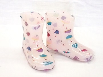 モンフレール レインブーツ 7008 16.0cm かさピンク 可愛い 長靴