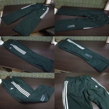 L 緑)アディダス ウィンドブレーカーパンツ DUQ94 中綿入りロングパンツ adidas